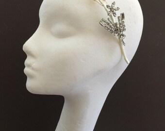Pearl Wedding Headband, Freshwater Pearl Bridal Headband, Vintage Style Pearl Headpiece, Pearl Headpiece, Bridal Tiara, 1920s Wedding Tiara