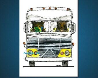 Wild Camping Winnebago with Bears