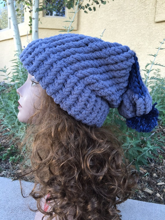 Floppy Fleece Hat -- a loom knit pattern