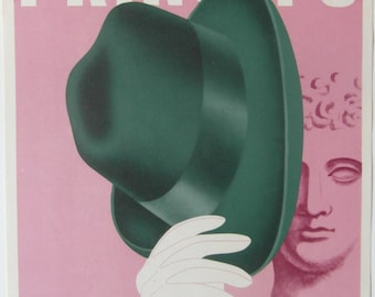 Original 1930s Art Deco Small Format Italian Advertising Poster