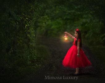 red Flower girl dress, red tutu dress, red bridesmaid dress, red princess dress, crochet top tulle dress, hand knit tutu dress in red