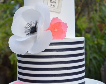 kate spade inspired cake decor cake kate spade fondant frame inspired black and white wafer paper sheets cookie topper
