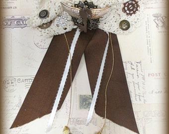 Steam Punk Victorian Lace Bow Hair Decor