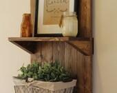 Vertical Rustic Wooden Shelf, Rustic Shelf, Rustic Furniture, Wooden Shelf, Rustic Home Decor, Wall Shelf, Bathroom Shelf, Christmas Gift
