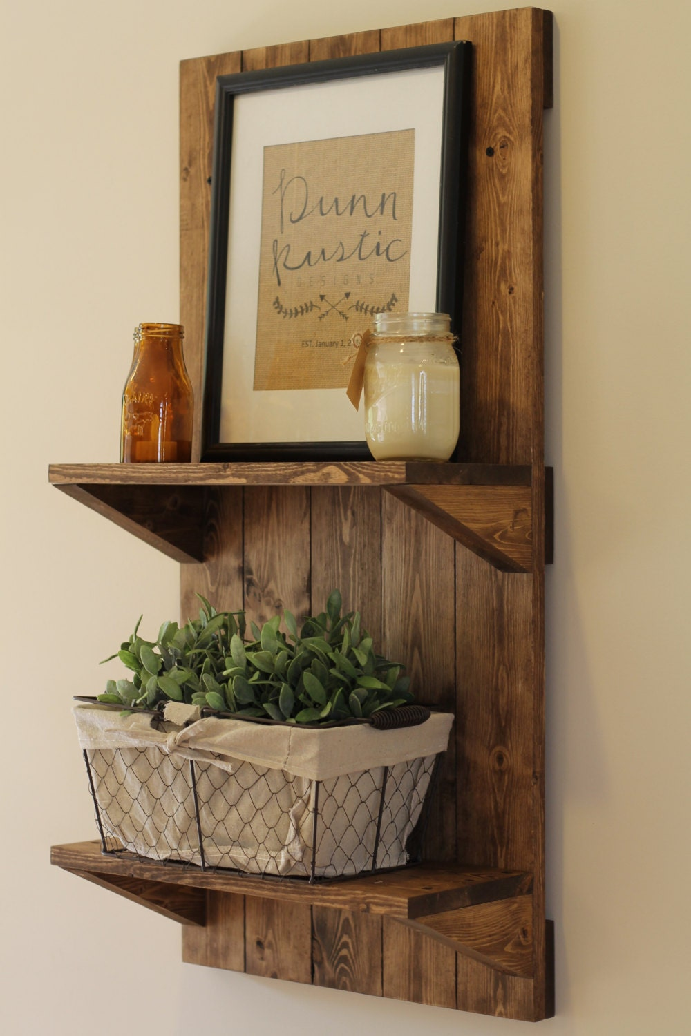 Vertical rustic wooden shelf rustic shelf rustic furniture for Bois decoration murale