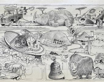 Safari - Biro sketchbook cartoon