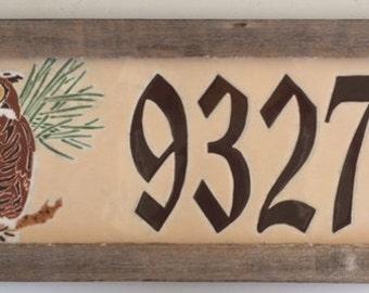 Owl address tile
