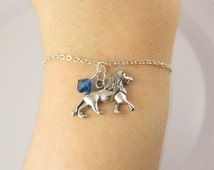 Lion Bracelet- choose a color, Lion Jewelry, Lion Gifts, Lion Charm Bracelet, Lion Bead Bracelet, Lion Charm, Animal Bracelet, Big Cat