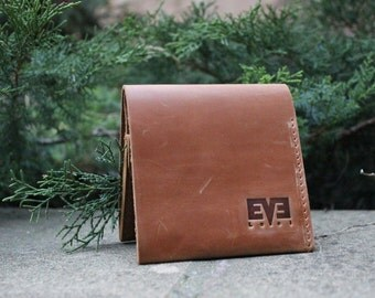 Leather wallet, handmade small wallet, genuine leather wallet, LB1008 Ginger