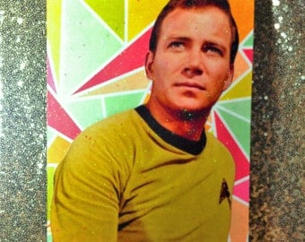 Glittery Star Trek TOS Captain Kirk 8x10 Inch Collage