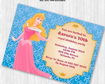 Sleeping Beauty Party Invitation