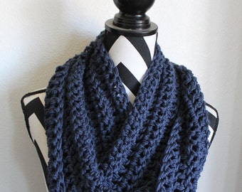 Dark Denim Infinity Scarf