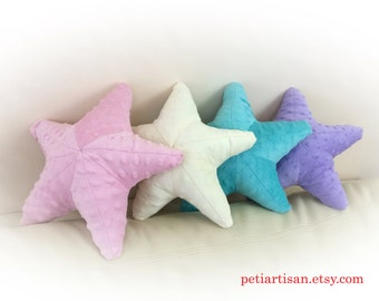 Starfish Shaped Pillow, Toy Pillow, 3D Pillow, Nautical Decor, Beach House Decor
