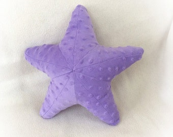 Starfish Shaped Pillow, Toy Pillow, 3D Pillow, Nautical Decor, Beach House Decor, Purple, Lavender pillow