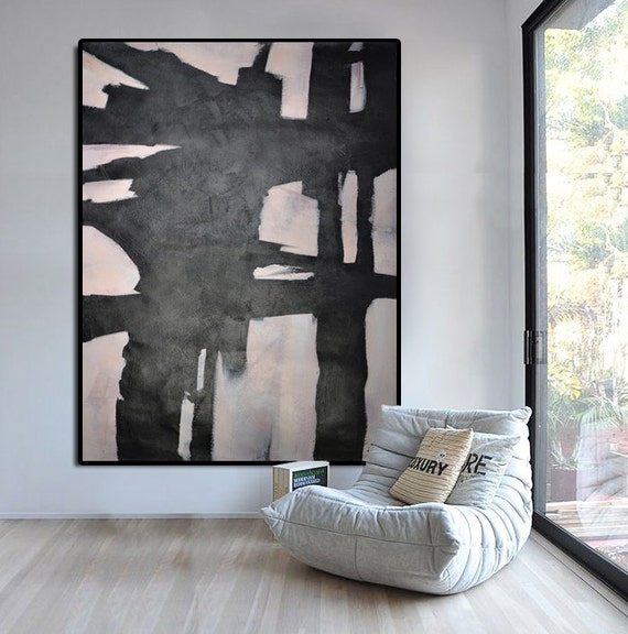 Extra Large Abstract Painting Horizontal Acrylic By