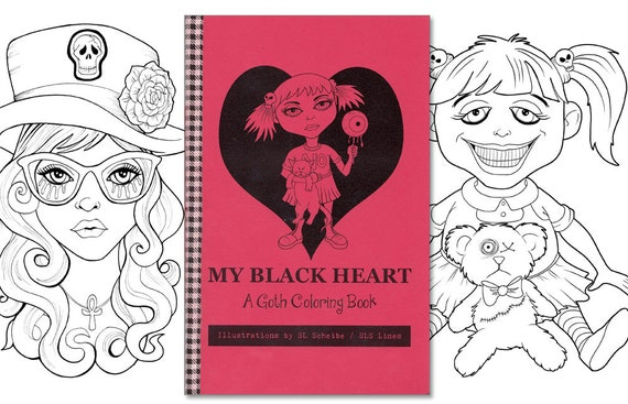gothic print out coloring pages - photo#34
