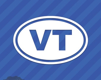 Vermont VT Oval Vinyl Decal Sticker