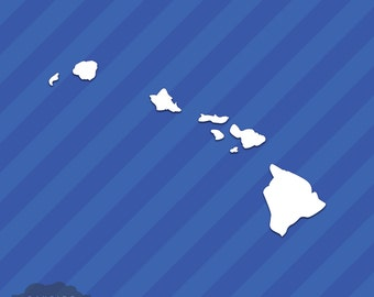 Hawaii Islands HI State Outline Vinyl Decal Sticker
