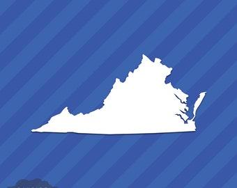 Virginia VA State Outline Vinyl Decal Sticker