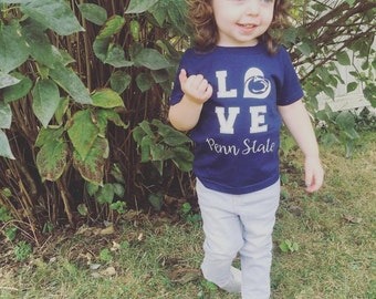 L-O-V-E PENN STATE infant/toddler- psu, nittany lion, football, we are, college football