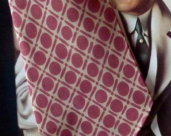 tie vintage Bernard Chaix silk France 1970