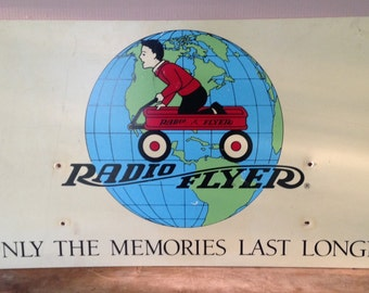 Radio Flyer Vintage Advertising Sign,  Home Decor,  Collectible