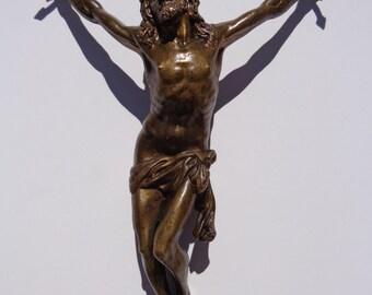 Rare 17th Century Italian Renaissance Bronze Jesus Christ Corpus Sculpture Statue Statuette ! Christian Art Missing Cross Crucifix !