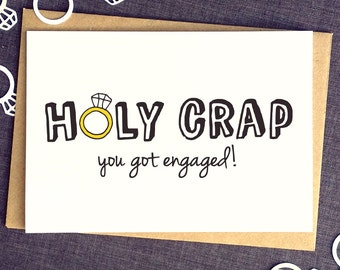 Engagement Card - Engagement Party - Funny Friend Card - Funny Engagement Card - Congrats Card - Engaged - Congratulations Card - Rude Cards