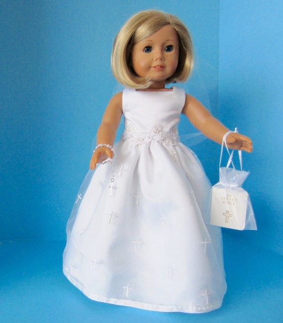 american girl doll first communion of crosses. Black Bedroom Furniture Sets. Home Design Ideas