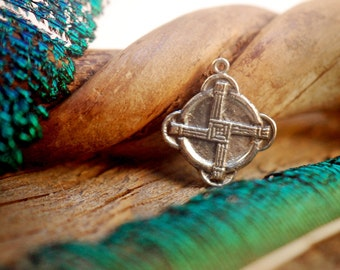 Brigid's Cross Charm ~ Sterling Silver Pendant