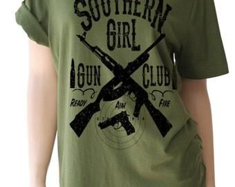 Southern Girl Gun Club Shirt. Gun Shirt. Gun TShirt. Gun T Shirt. Country Girl. Country Shirts. Country Girl Shirt. Country Clothing.
