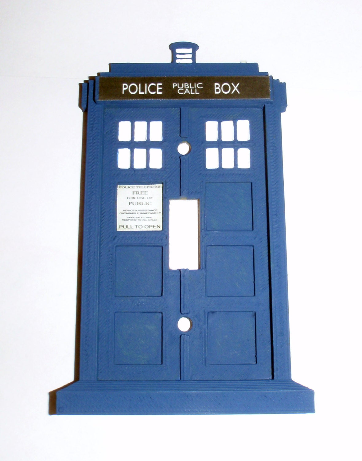 Tardis light switch plate by rcubedcreations on etsy for Tardis light switch cover