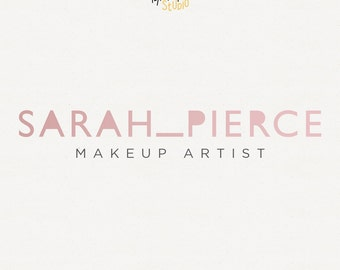 Makeup Artist Logo Design, Rose Gold Logo, Original Branding, Business Design, Creative Logo, Artist Logo, Logo with tagline, Submark Logo
