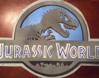 jurassic world party sign