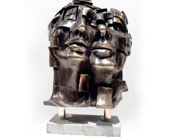FACIAL (170). Electrolytic bronze sculpture