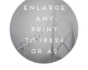 Enlarge Any Print to 18x24 or A2 . Enlarge any EXISTING 8x10 Raincity Prints Inspirational, Love, Typographic, Nursery or Kitchen Art Print