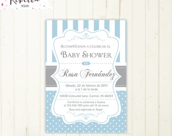 spanish invites | etsy, Baby shower invitations