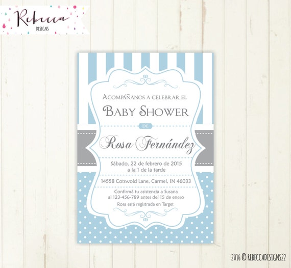 baby shower invitation in spanish boy baby shower spanish invite