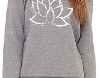 Lotus Flower Off the Shoulder Sweatshirt