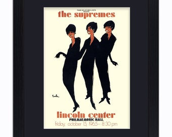 The Supremes - Lincoln Centre - Mounted & Framed Vintage Print
