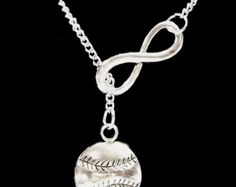 Infinity Baseball Softball Gift For Mom Y Lariat Necklace
