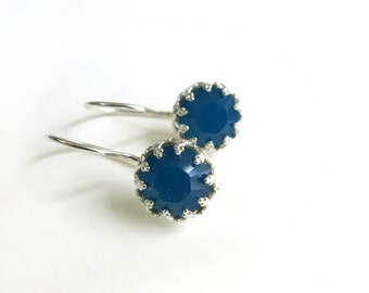 Swarovski Blue Earrings, Silver earrings, Caribbean Blue Opal Swarovski, Drop earrings, Bridal Jewellery, Bridesmaid Gift, Valentine Gift