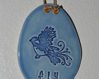 Bluebird plaque, wall plaque, wall tile, bluebird decoration, home decor, bluebird