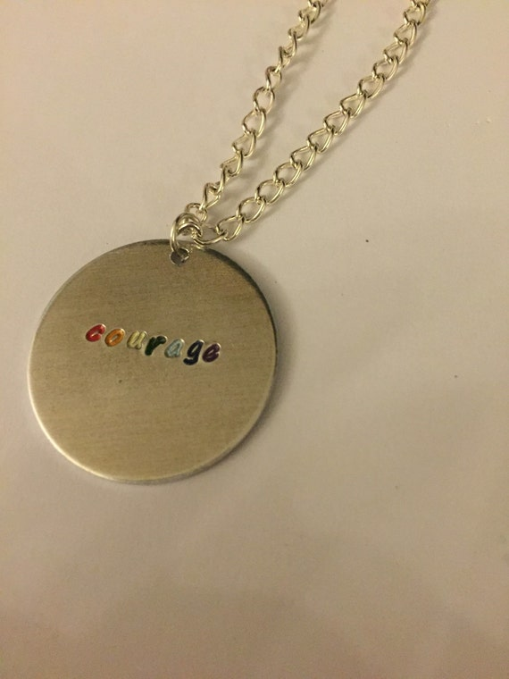 glee courage necklace