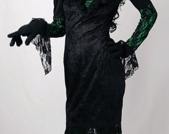 Velvet and Lace Witch Dress Costume