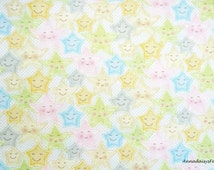 Pastel Baby Fabric, Red Rooster Sweet Dreams 24461, Pastel Star Fabric, Star Baby Quilt Fabric, Cotton Quilt Fabric with Stars