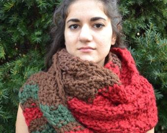 Hand Knit Scarf - Warm Woods