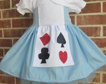 Alice in Wonderland dress with apron, and blouse