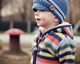 Crochet Pattern: Children's Newsboy Hat (0025) - Permission to Sell Finished Products