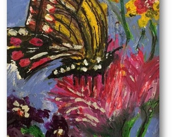 """Item #15 : Butterfly Blue greeting card (6 3/4"""" x 4 7/8"""")"""